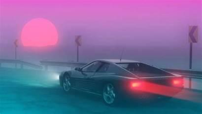 Synthwave 80s 4k Ferrari Testarossa Wallpapers Neon