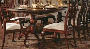 American Drew Cherry Grove Double Pedestal Dining Table By