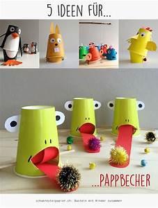 Basteln Mit Plastikbecher : 5 ideen f r pappbecher paper cups diy tutorials schaeresteipapier basteln mit kindern ~ Orissabook.com Haus und Dekorationen