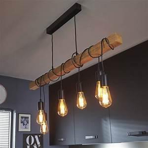 Luminaire Fait Maison : suspension bois ampoules townshend ~ Melissatoandfro.com Idées de Décoration