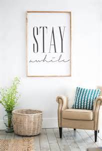 stay awhile framed print home decor wall art by