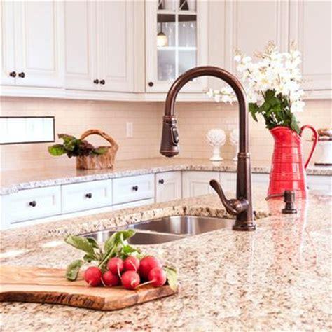giallo veneziano granite kitchens glass tile backsplash