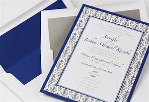 wedding invitation trend colorful layers matching liners With royal blue and grey wedding invitations