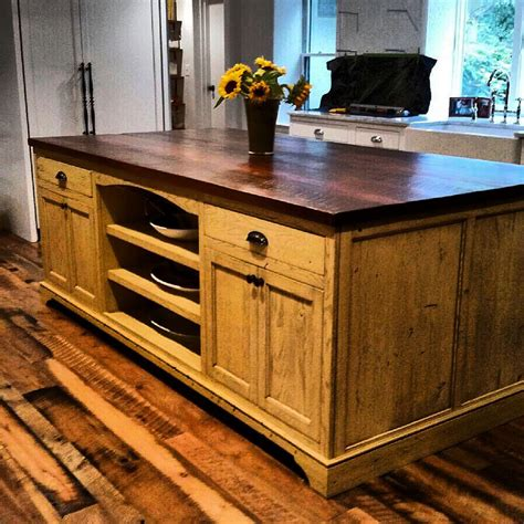 kitchen island made from reclaimed wood custom designed kitchen islands made from reclaimed wood