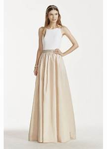 tank gown with beaded waistband and ballgown skirt With davids bridal wedding dress preservation