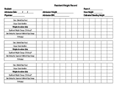 Weight Loss Record Template 15 Best Images Of Daily Food Intake Worksheet Food