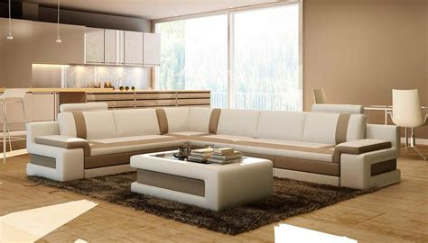 white  brown leather sectional sofa vga leather