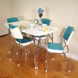 Retro Chrome Kitchen Table and Chairs