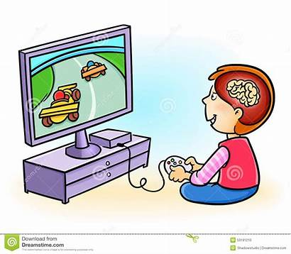 Computer Games Playing Clipart Boy Addicted Harm