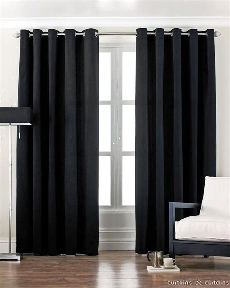 Black Bedroom Curtains by Black Curtains Black Cotton Canvas Eyelet Lined Curtain