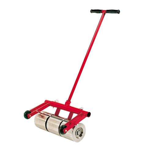 home depot flooring roller roberts 75 lb vinyl and linoleum floor roller with transport wheels 10 950 the home depot