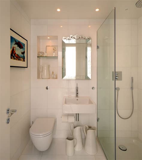 small bathroom lighting Bathroom Contemporary with double