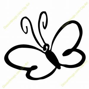 Cute Butterfly Outline Clip Art (36+)