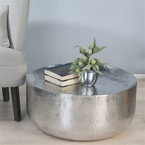 hammered metal table l hammered metal coffee table
