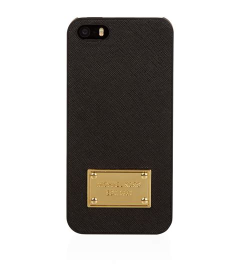 michael kors iphone 5s michael kors leather iphone 5 5s in black lyst