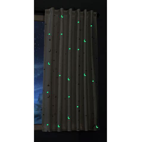 Vorhang fluoreszierend leuchtend Mond Sterne Schlaufenband