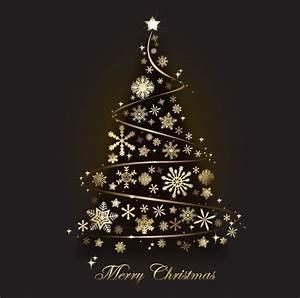 Free Creative Gold Christmas Tree Design Vector 01 TitanUI