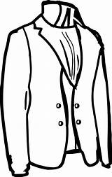 Coloring Tailor Jacket sketch template