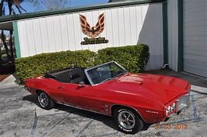 69 Pontiac Firebird Convertible  1969 pontiac firebird custom
