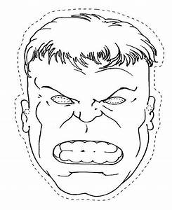 hulk face mask coloring pages With incredible hulk face template