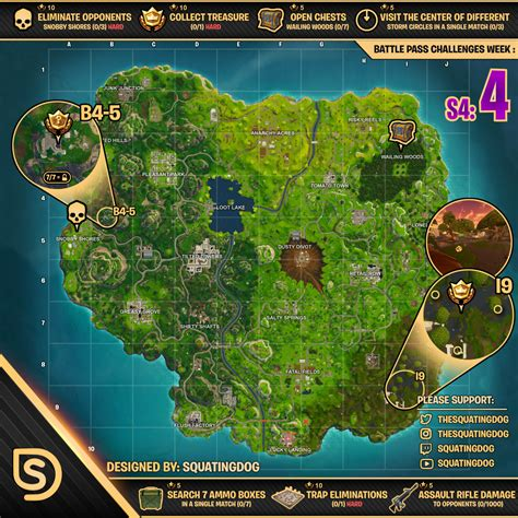 Image Of Ice Cream Fortnite Week 4 Cheat Sheet Map How To Challenges Guide Battle Pass