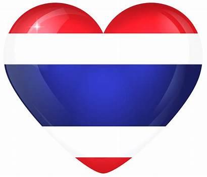 Flag Thailand Heart Thai Transparent National Clipart