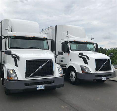 volvo trucks fedex demo platooning tech  north carolina
