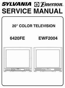 Emerson 20 U0026quot  Color Television 6420fe Service Manual Pdf