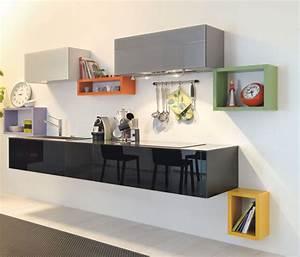 Meuble suspendu cuisine mobilier design decoration d for Deco cuisine pour meuble tv suspendu