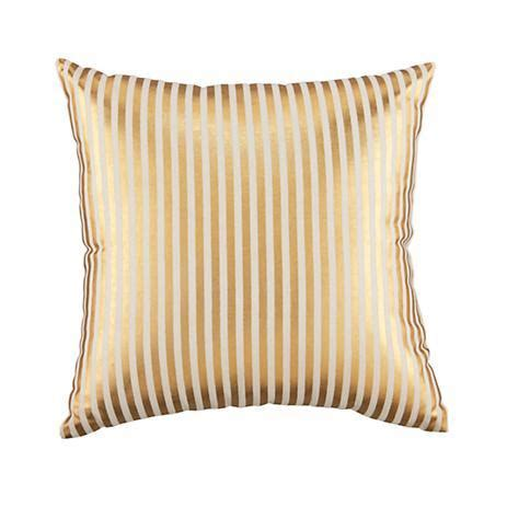 metallic gold throw pillows metallic pinstripe gold throw pillow