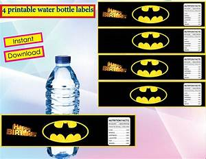 instant download batman water bottle labels water bottle With batman water bottle labels