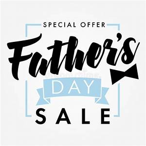 Father Day Special Offer SALE Banner Light Stock Vector ...