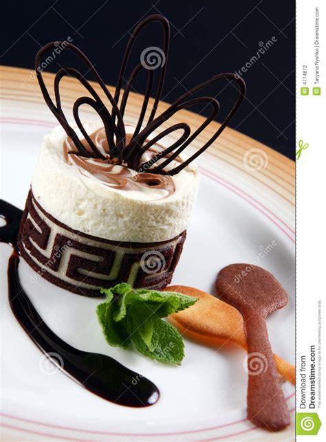 dessert avec du chocolat photographie stock image 4774872