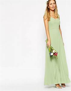 lyst asos wedding maxi dress with pleated skirt and With dressy maxi dresses for wedding