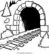 Tunnel Template Coloring Sketch Pages sketch template
