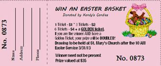 holiday ticket templates springtime raffle ticket software