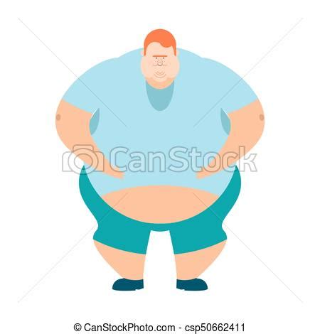foto de Redhead fat guy glutton thick man fatso vector illustration