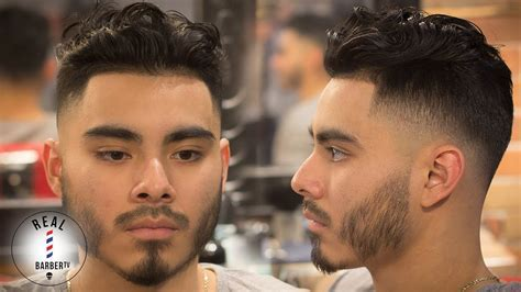 Men's Haircut   Curly Hair Drop Fade   Skin Fade Haircut
