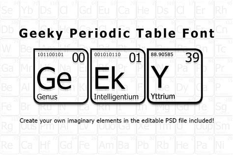 geeky periodic table font  images business
