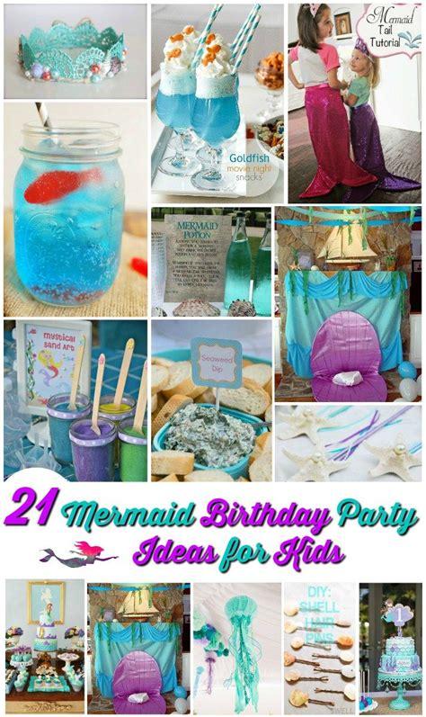 21 Marvelous Mermaid Party Ideas For Kids  Kid, Mermaids
