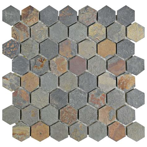 merola tile crag hexagon sunset 11 1 8 in x 11 1 8 in x