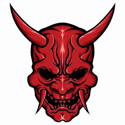 Mask Oni Drawing Japanese Demon Tattoo Night