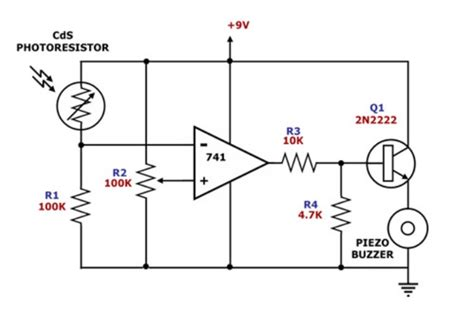 Hobby Electronics Light Dark Dependent Circuir