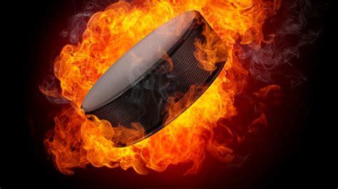 puck fire explosion ice hockey hd wallpapers desktop