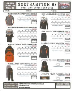 sample spirit wear order form dance team pinterest