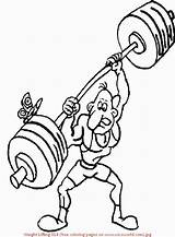 Coloring Pages Weight Lifting Weights Printable Template sketch template