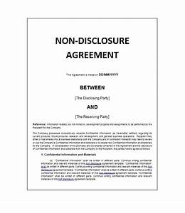 40 non disclosure agreement templates samples forms With financial non disclosure agreement template