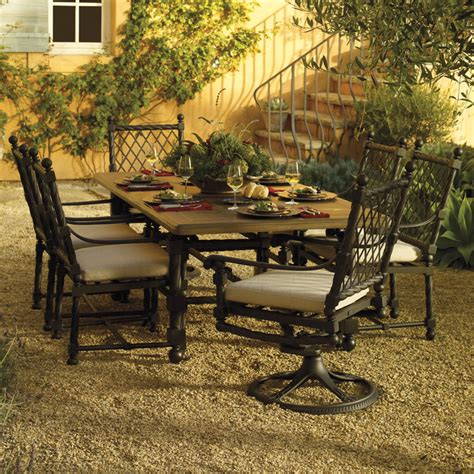 castillo dining collection mediterranean patio by