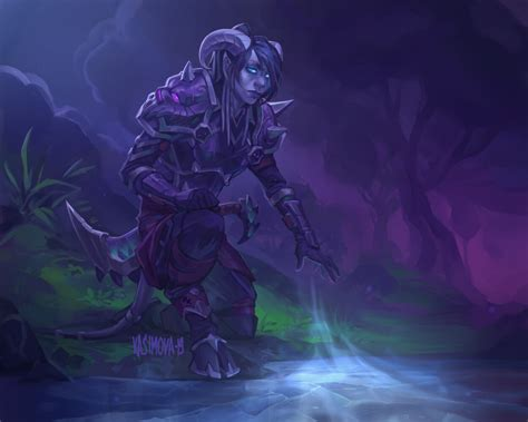 The first step in an epic journey. ArtStation - Elinnes, Dariia Kasimova in 2020 | Warcraft art, World of warcraft characters ...