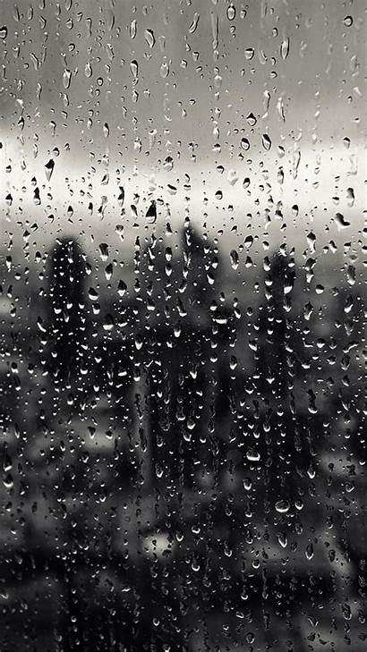 Rain Window Pattern Nature Iphone Wallpapers Rainy